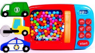 Download Microwave Toy for Children Learn Colors with Toy Car Vehicles Video