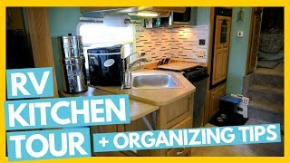 Download Tiny RV Kitchen Tour + Organizing Tips & Tricks Full Time RV Family Video
