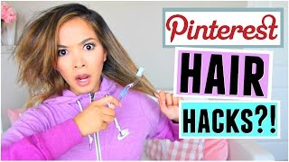 Download Pinterest HAIR Hacks Tested! Video