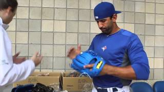 Download Jose Bautista's new Blue Custom Wilson Glove Video