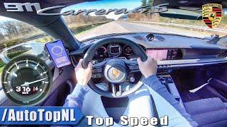 Download NEW! Porsche 911 (992) Carrera 4S 316km/h AUTOBAHN POV TOP SPEED by AutoTopNL Video