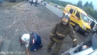 Download Страшная авария на ГБШ.Работа спасателей МАСС Новосибирска Video