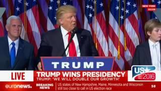 Download Full Speech: Donald Trump wins US presidency Video