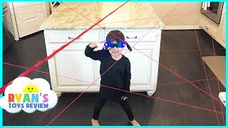 Download Spy Kid Laser in the House Family Fun Activities Playing Indoor Spy Gear Toys for Kids Video Video