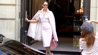 Download EXCLUSIVE - All Pink Celine Dion leaving her hotel in Paris Video