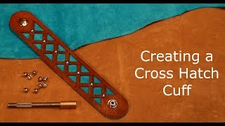 Download Leather Cuff Bracelet with a Cross Hatch Design Video