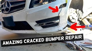 Download HOW TO FIX CRACKED BUMPER, AMAZING REPAIR Video