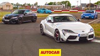 Download Toyota Supra vs BMW M2 Competition vs Porsche 718 Cayman T vs Alpine A110 | Autocar Video