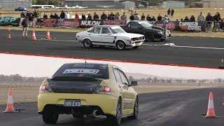 Download Rotary Revenge against the V8s, GT-Rs and Evos - 2018 Drag Battle Shootout Video