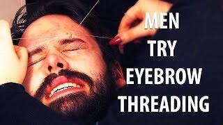 Download Men Try Eyebrow Threading Video