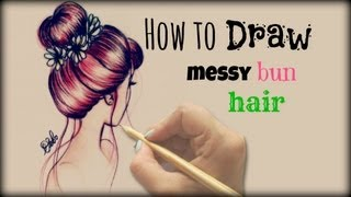 Download Drawing Tutorial ❤ How to draw and color Messy Bun Hair Video