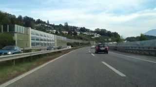 Download A1-A9 Lausanne-Montreux (VD), Switzerland Video