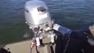 Download Honda 20 Hp on 1440 Triton all welded boat. Video