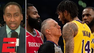 Download Stephen A. reacts to Lakers vs. Rockets fight during LeBron's Staples Center debut | SportsCenter Video