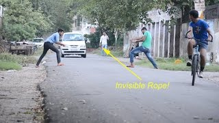Download Funny Pranks - Invisible Rope Prank Video