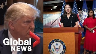 Download Donald Trump: AOC, Ilhan Omar, Rashida Tlaib and Ayanna Pressley ″hate our country″ Video