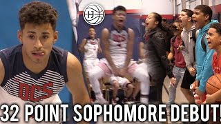 Download Julian Newman HYPE 32 Point 8 THREES Sophomore DEBUT! CROWD STORMS THE COURT MID GAME!!! Video