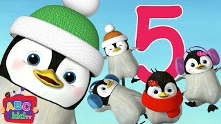Download Five Little Penguins Jumping on the Bed | Nursery Rhymes & Kids Songs - ABCkidTV Video