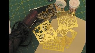 Download Heat Embossing with Brass Stencils Video