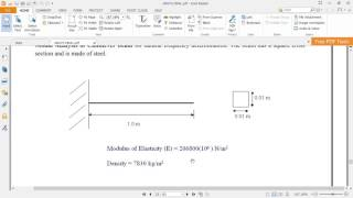 Download Ansys MODAL ANALYSIS OF CANTILEVER BEAM problem 23 as per vtu syllabus from ANSYS lab. Video