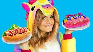 Download 6 DIY Amazing Unicorn Food vs Real Food Challenge! Video