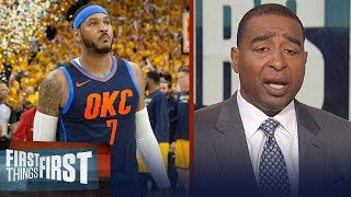 Download Nick Wight and Cris Carter on Carmelo's future with the Thunder   NBA   FIRST THINGS FIRST Video