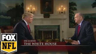 Download Bill O'Reilly interviews President Donald Trump before Super Bowl LI | FOX SPORTS Video