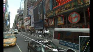 Download Fun stuff with Google Street View Video