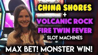 Download AMAZING RUN! HUGE WIN! Volcanic Rock Fire Twin Fever! Slot Machine!!! Video