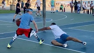 Download Professor vs Trash Talker 1v1 for $100.. EPIC beach court Video