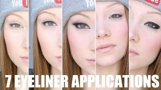 Download Seven Different Eyeliner Application Tutorial Video