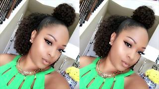 Download My Go To 10Min Curly Hairstyle Tutorial | Bun + Half Down On Natural Short Hair Video
