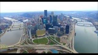 Download An Aerial Tour of Downtown Pittsburgh Video