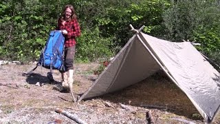 Download Day #1 On Vancouver Island - Setting Up A Shelter Video