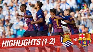 Download Resumen de Real Sociedad vs FC Barcelona (1-2) Video