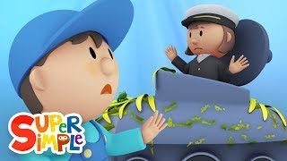 Download Captain Mary's Submarine goes through the car wash | Cartoon for kids Video