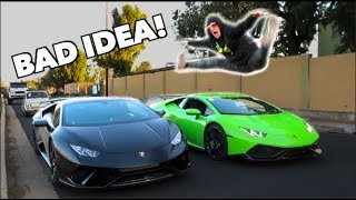 Download LOGAN PAUL JUMPED OVER MY LAMBORGHINI *DANGEROUS* Video