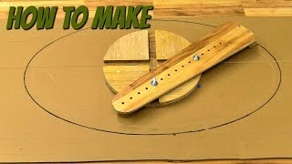 Download (how to make) a router jig for making ellipes Video
