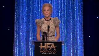 Download Dev Patel Presents Supporting Actress Award to Nicole Kidman Hollywood Film Awards 2016 Video