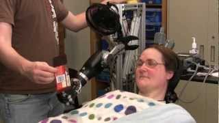 Download One Giant Bite: Woman with Quadriplegia Feeds Herself Chocolate Using Mind-Controlled Robot Arm Video