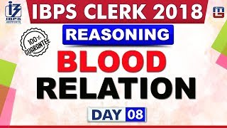Download Blood Relation | Day 08 | IBPS Clerk 2018 | Reasoning | Live at 10:00 pm Video