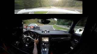 Download Porsche 991 GT3 - Battle with FAST BMW M3 E92 on Nürburgring Nordschleife (Onboard, 31.08.2016) Video