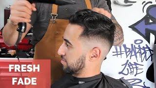 Download HAIRCUT FRESH FADE POMPADOUR with BLADE Video
