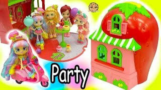 Download Shoppies Dolls Party At Strawberry Short Cakes House + Season 7 Shopkins Surprise Blind Bags Video