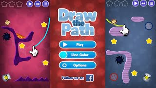 Download DRAW THE PATH - ST Review | Simple Physics Puzzle Game | iOS Gameplay (Android, iPhone, iPad) Video