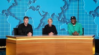 Download Ellen Joins Michael Che and Colin Jost for 'Weekday Update' Video