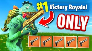 Download USING *ONLY* The HAND CANNON To WIN In Fortnite Battle Royale (Challenge) Video
