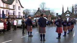 Download Opening ceremony for the 2018 Salmon fishing season on river Tay at Kenmore, Scotland Video