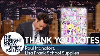 Download Thank You Notes: Paul Manafort, Lisa Frank School Supplies Video