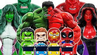 Download Red Hulk, She-Hulk Avengers Go~! Spider-Man, Iron Man, Captain America, Venom, Thanos Video